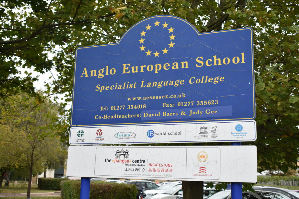 Anglo European School Ingatestone sign
