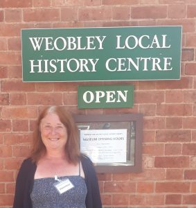 Michelle at Weobley History centre