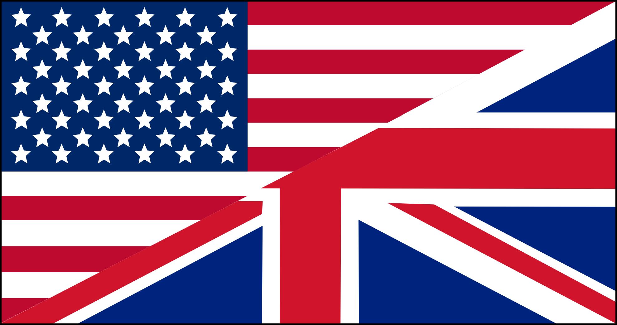 UK US flags